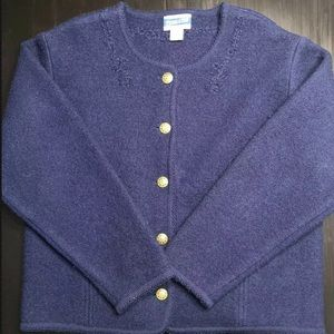 PENDLETON CLASSIC Virgin Wool Blue Sweater